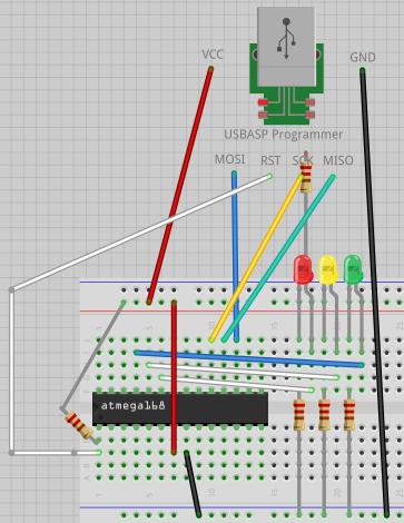 схема светофора (без