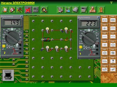 Виртуальные схемы по электронике